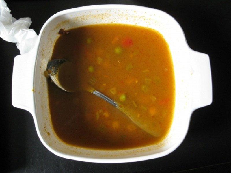 łyżka w zupie