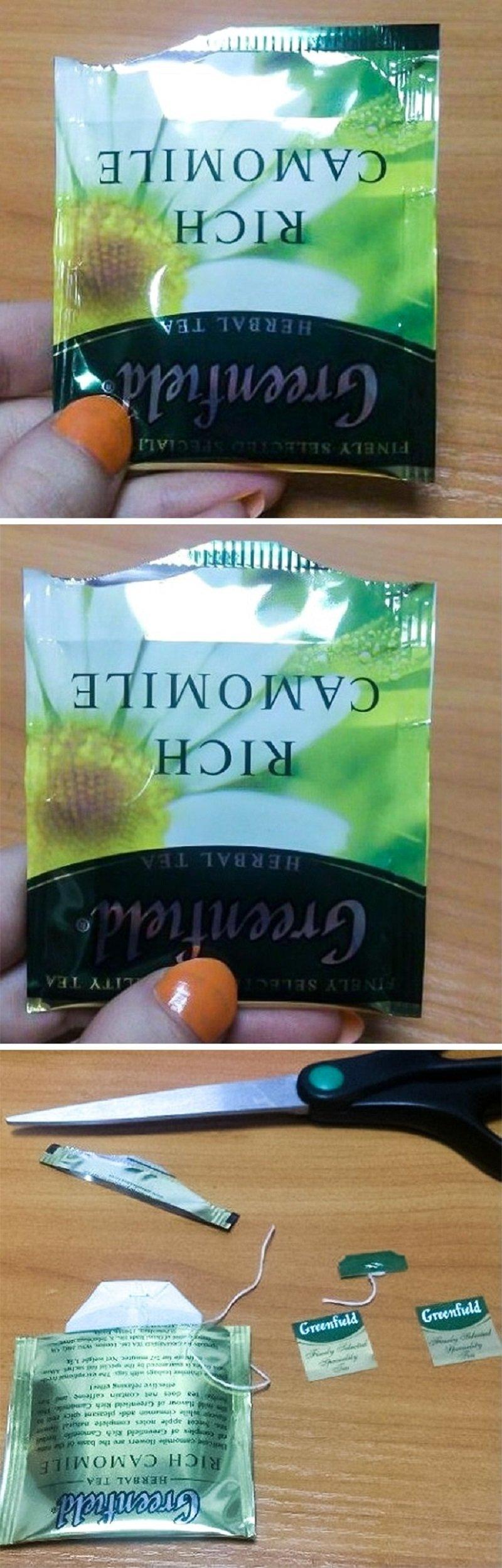 torebce z herbatą