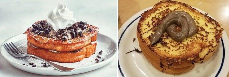 десерт из тостов