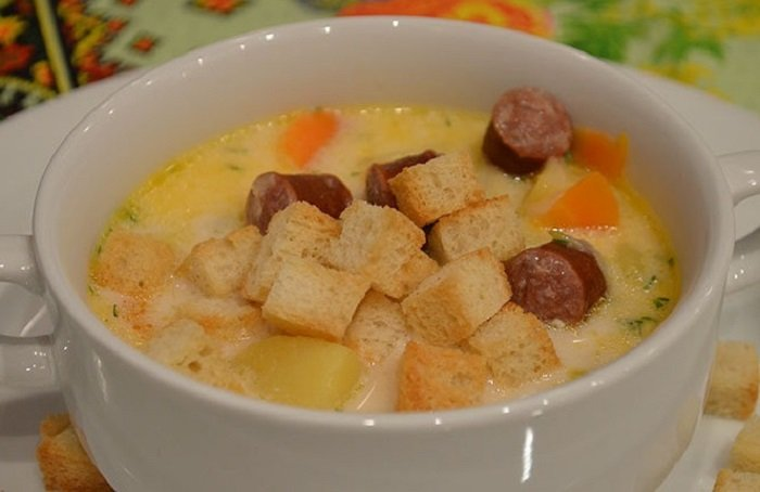 ako urobiť syrovú polievku