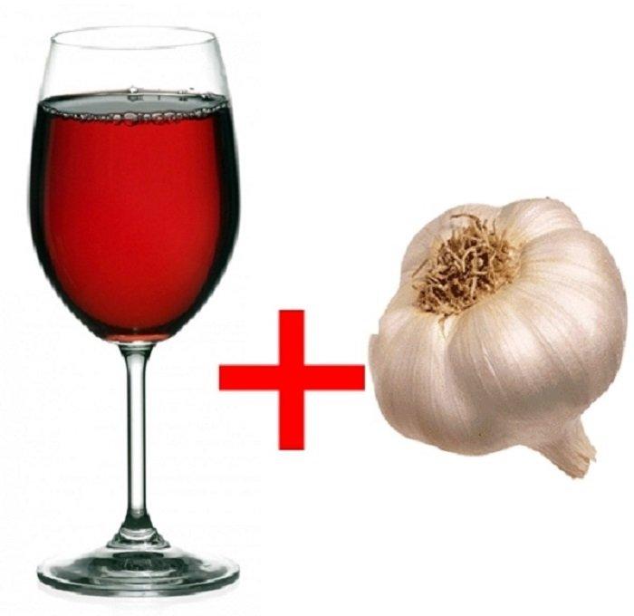 вино с чесноком