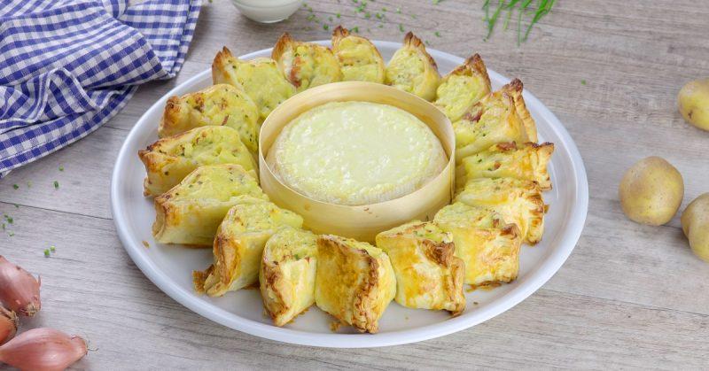 Порционный пирог с картофелем и сыром