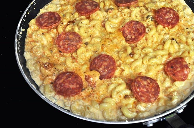 Ленивая пицца из макарон
