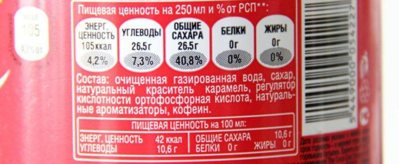 вред сладких газированных напитков