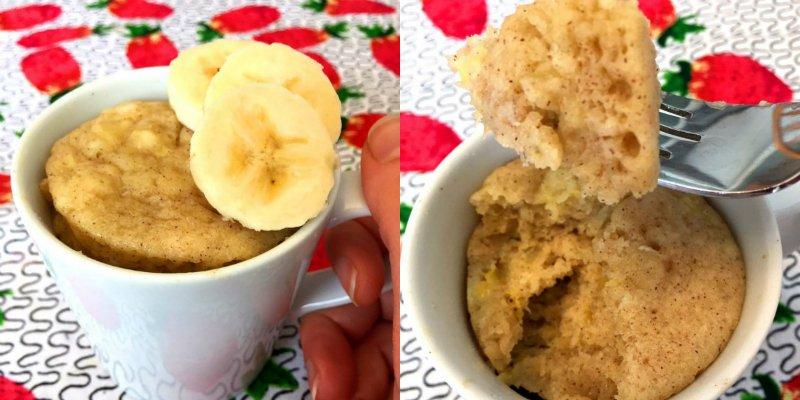банановый кекс в кружке
