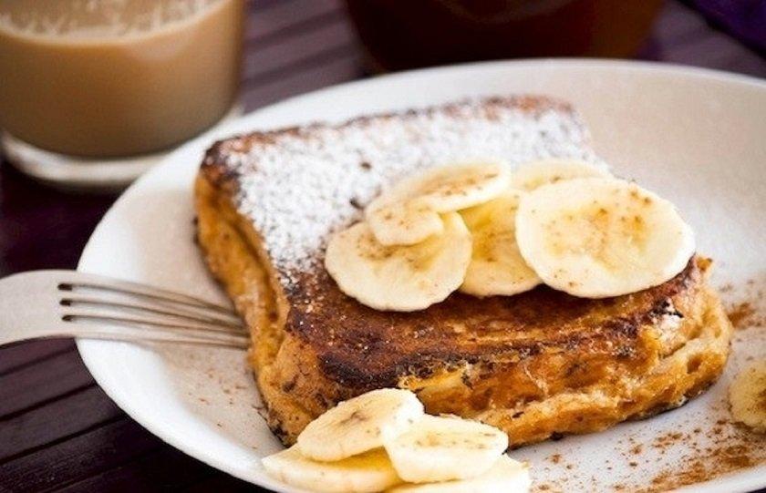 Вкусный завтрак/ Готовим аля французские тосты с бананом