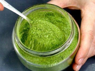 Домашняя зеленая соль