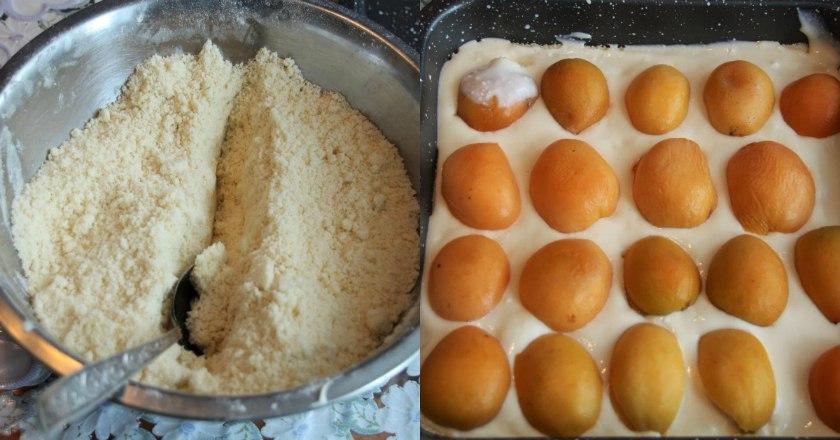 Абрикосовый насыпной пирог