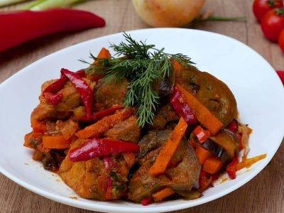 Аджапсандал с мясом