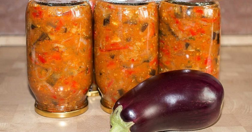Баклажани по-татарськи на зиму подивитися рецепт