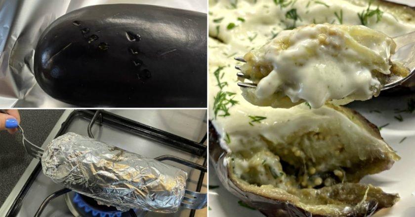 Як приготувати баклажани в фользі з димком подивитися рецепт