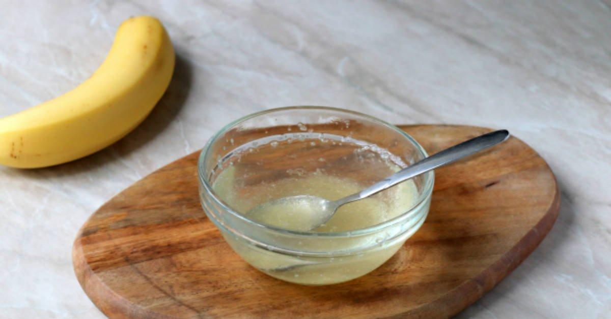 Бананове суфле з желатином і сметаною