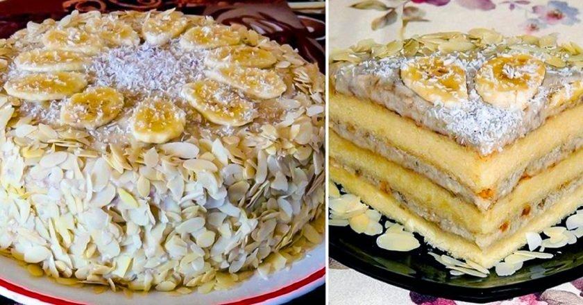 торт с банановым пюре