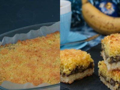 Банановый пирог на песочном тесте