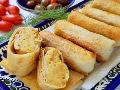 Блинчики с хумусом