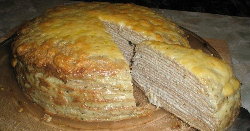 Печеночный торт рецепт с пошагово с блинами
