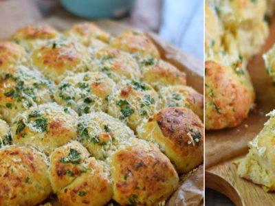 Булочки с чесноком и сыром
