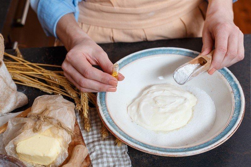 крем для булочек сметанников