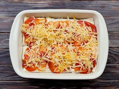 Запеченные буррито с говядиной и фасолью