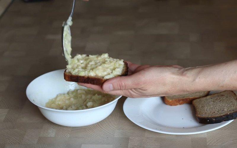 горячиебутерброды с луком