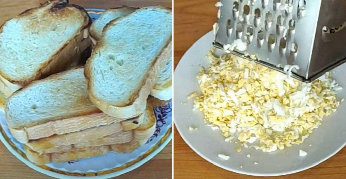 гренки и яйцо