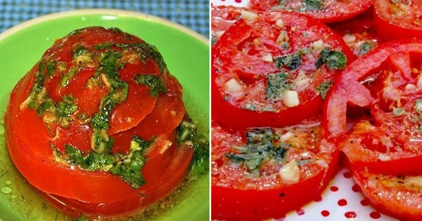 Быстрый маринад для помидоров