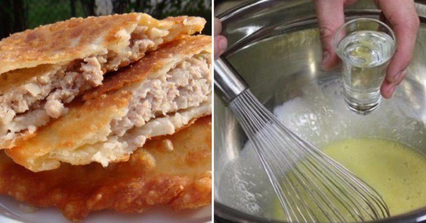 рецепт вкусн. и нежных чебуреков с водкуй