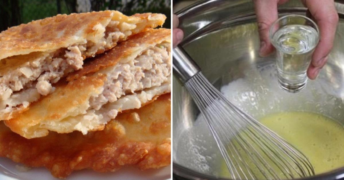 Рецепт теста на чебуреки на воде с фото пошагово