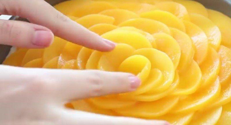 чизкейк с персиками фото рецепт