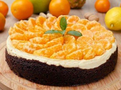 Чизкейк с пряными мандаринами