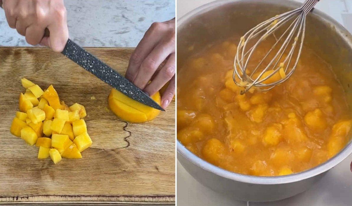 приготовление персикового мармелада