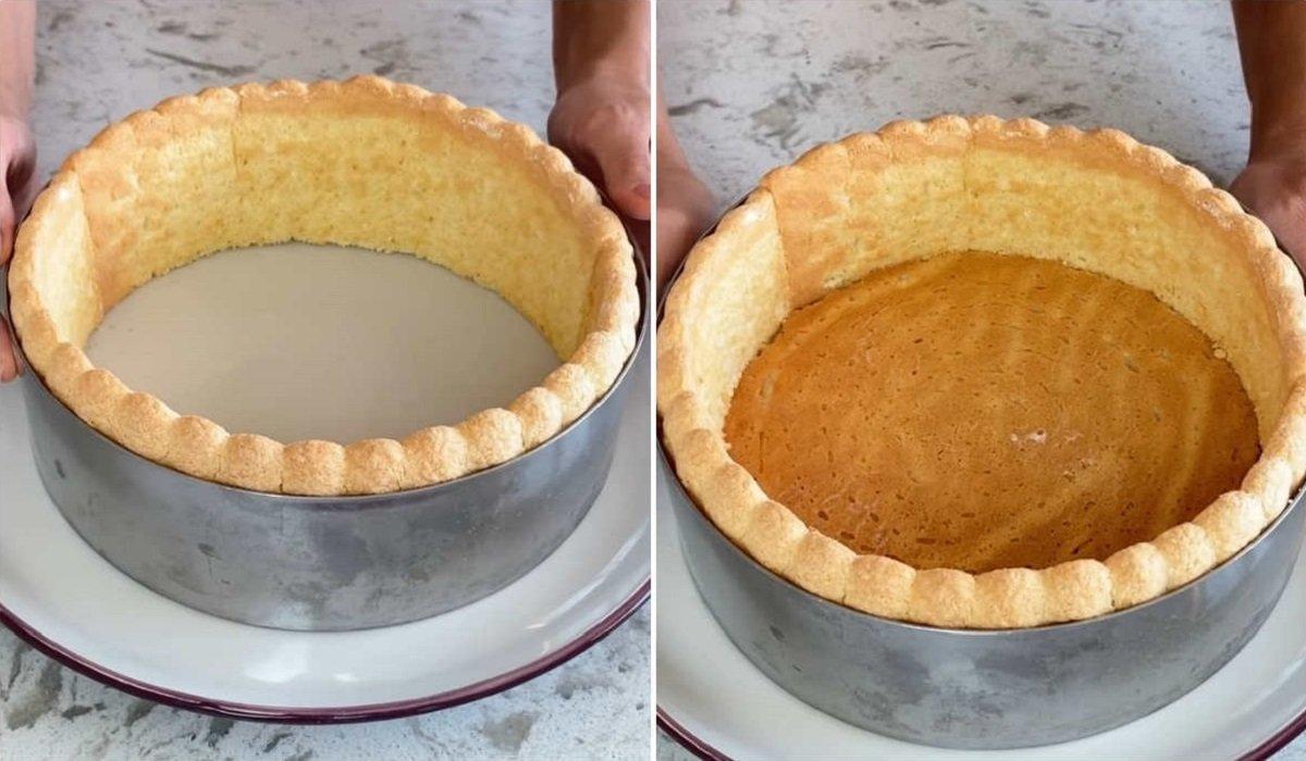 боковые стороны и дно торта