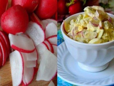 Дачный салат с редисом