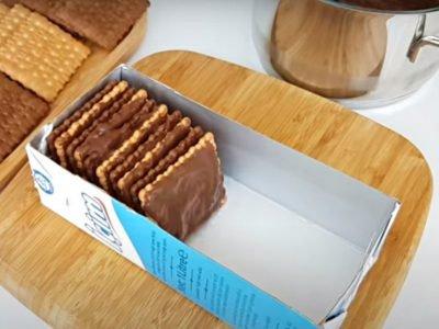 Простой десерт из печенья без выпечки