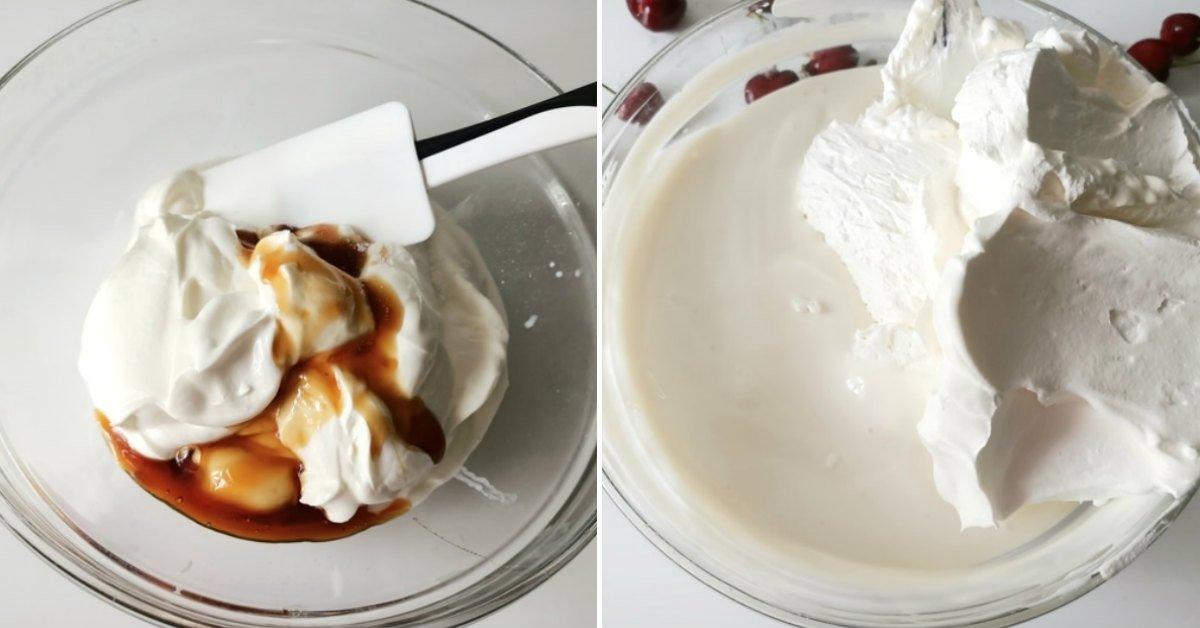 Літній десерт з черешнею без випічки