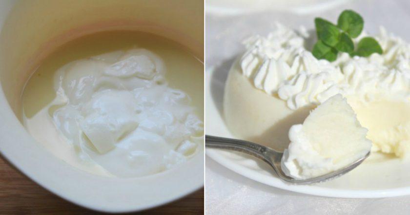 Молочный десерт в мультиварке