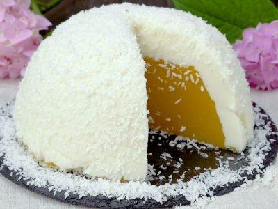 Десерт «Яйцо страуса»