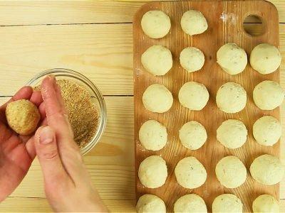 Домашние пончики с сыром