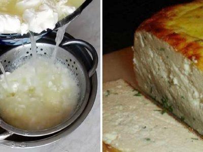 Домашний сыр на кефире
