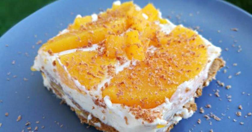 Домашній тірамісу без яєць з персиком подивитися рецепт