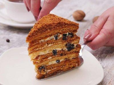 Домашний торт медовик