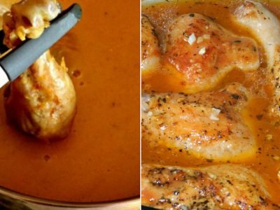 Домашняя курица в соусе