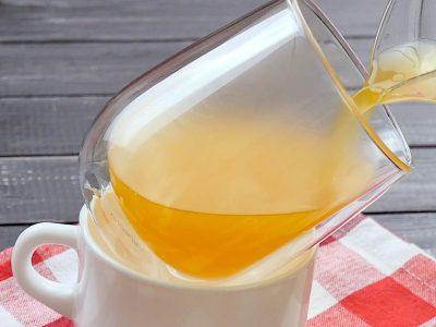 Двухслойное шоколадно-апельсиновое желе в стакане