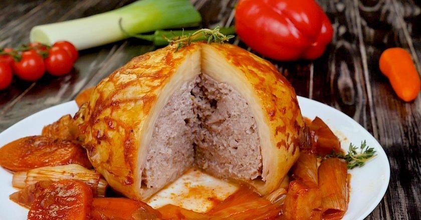 Фарширована капуста з овочами в духовці - Це Смак подивитися рецепт