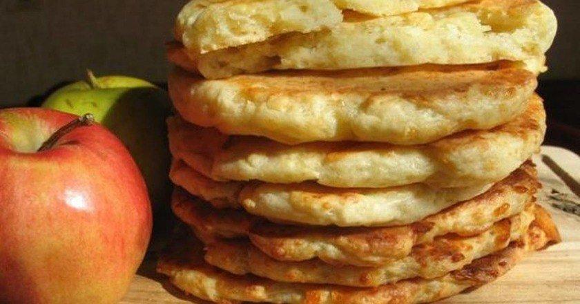 Финские творожно-яблочные лепешки