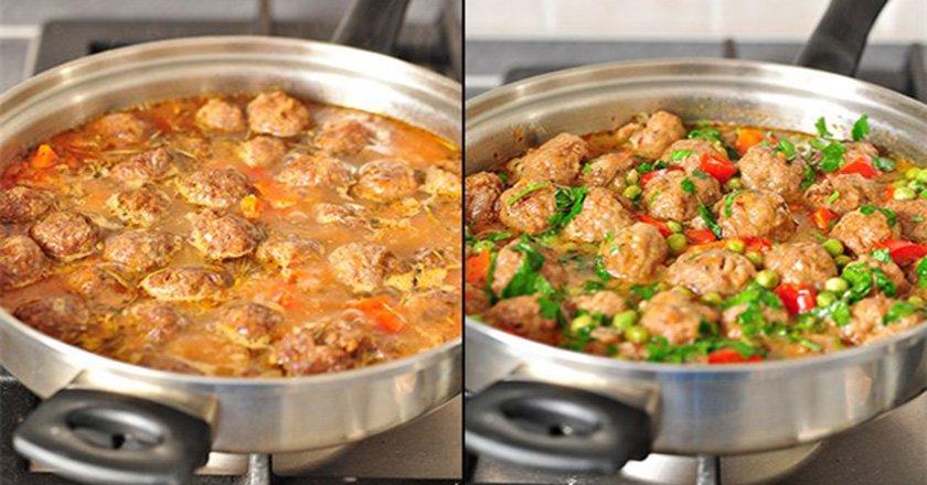 Фрикадельки з овочевим рагу - готуємо з покроковими фото