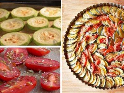 Гратен из кабачков и помидоров