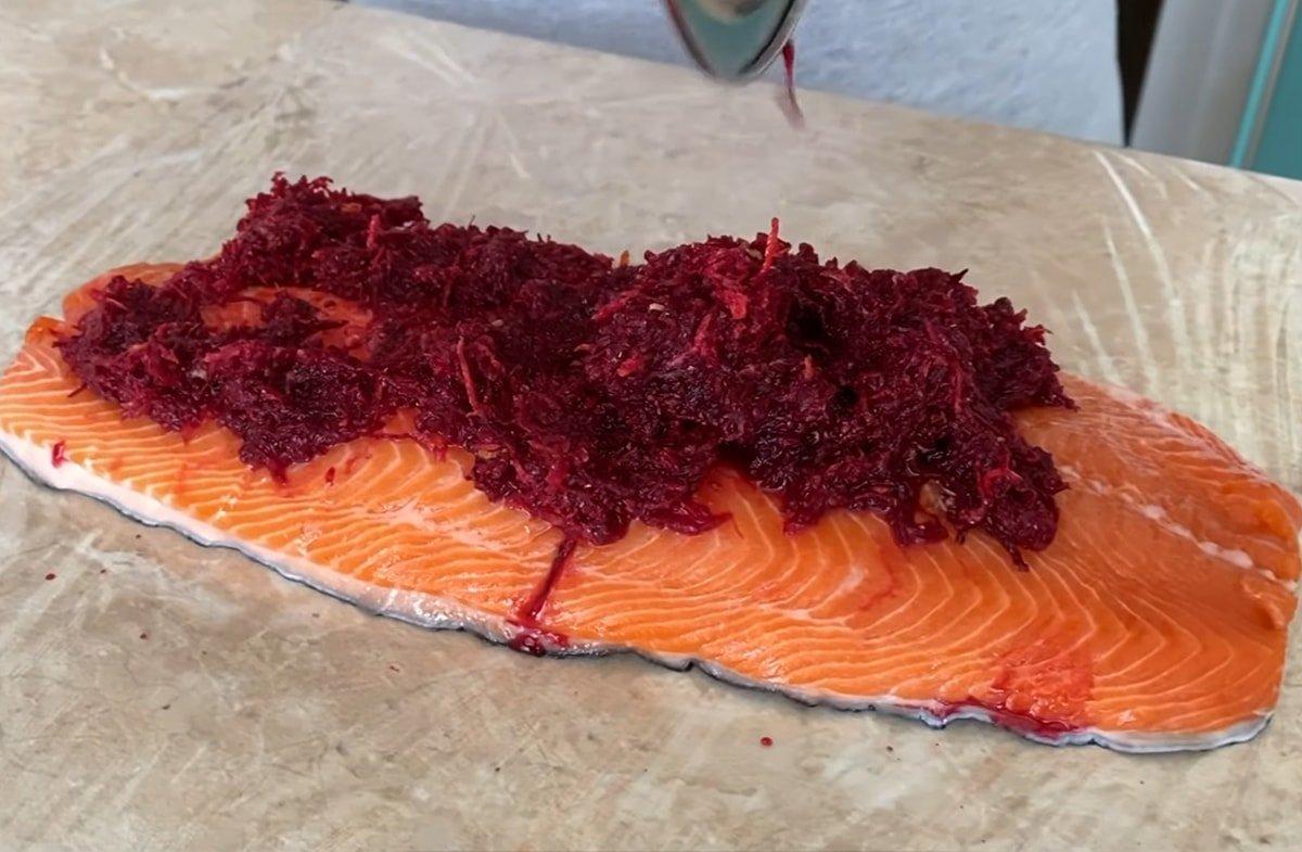 филе лосося в маринаде