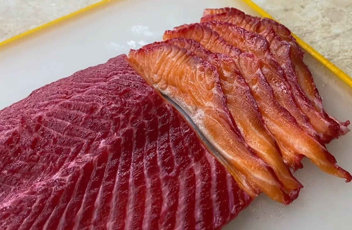 готовый гравлакс из лосося