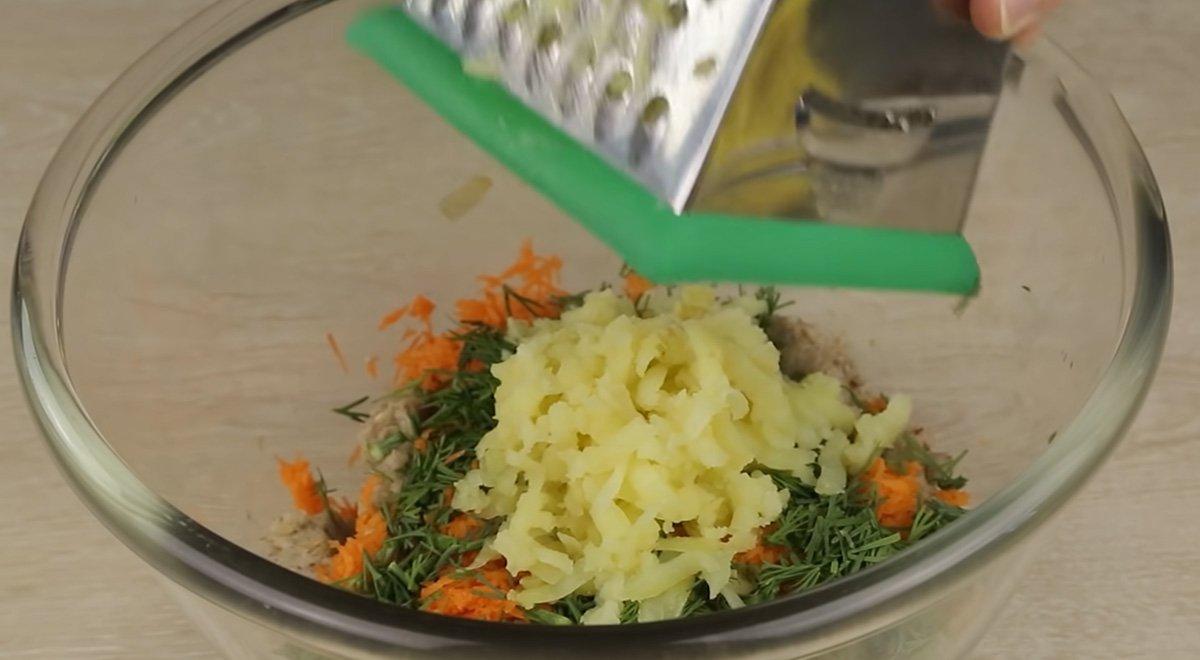 гречневый фарш с морковкой и картошкой